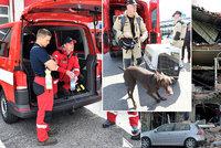 Psí šampioni i ostřílení záchranáři. Kdo z Česka vyrazil do Bejrútu zachraňovat životy?
