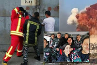 Poslední foto před výbuchem: Hasič se snaží otevřít dveře skladu! Fotograf je mrtvý, krásná hasička s kolegy nezvěstní