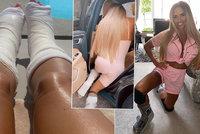Katie Priceová po operaci zlámaných nohou: Plazením vpřed!