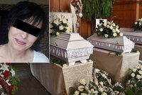 Pohřeb obětí bohumínského žháře: Žaneta se nemohla rozloučit s mrtvými dcerami!