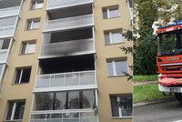 Tragický požár panelákového bytu v Brně: V ohni zemřela jedna z obyvatelek
