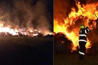 Dobrovolný hasič nechtěl do práce: Na Liberecku tak s kamarády zapaloval stohy