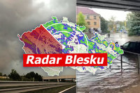 Na Česko udeří bouřky s krupobitím. Po lijácích hrozí i povodně, sledujte radar Blesku
