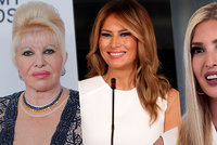 Trumpovy ženy: Ivana šokovala výroky o znásilnění, Melania vytáhla šaty za 20 tisíc