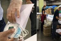Roušky pro důchodce, hygienický odpad? Přebalení na poště kritizuje lékař i lidé
