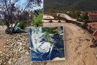 Obrazy zkázy: Hurikán udeřil na Řecko. 2 mrtví, zaplavené ulice i domy, laviny bahna