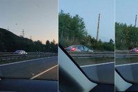 Řidič jel zběsile po dálnici D8 v protisměru: Na troubení nereagoval, řekl svědek Jiří