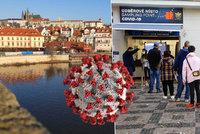 Koronavirus v Praze: 1188 nakažených za středu, bilance úmrtí se zhoršuje