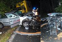 Smrtelná nehoda na Táborsku: Mladý řidič na mokré silnici narazil do stromu. Zemřel ve vrtulníku