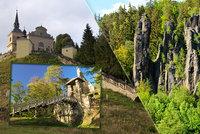 10 tipů na výlet do přírody: Poznejte Zeměráj, zkamenělou svatbu i hrad z Ladových obrázků