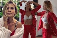 Sexy Peštová se padesátky nebojí: V luxusním prádle ukazuje skvostné křivky!