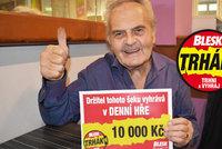 Pan František Tůma (71) v Trháku vyhrál 10 tisíc: Pořídí si obývací stěnu