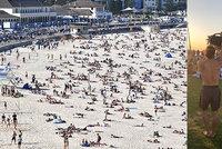"""U moře byla o víkendu hlava na hlavě. """"Nechoďte na pláže,"""" prosí australské úřady"""