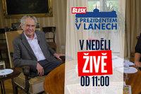 Dnes v 11 hodin ŽIVĚ Zeman promluví pro Blesk: O volbách, koronaviru i 28. říjnu. Zeptejte se prezidenta i vy