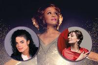 Mrtvé hvězdy znovu na jevišti: Whitney, Jackson, Callasová... Dojde i na Gotta?