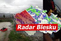 Povodňová pohotovost v Česku: Hladiny Labe i Vltavy klesají. Přijde další déšť, sledujte radar Blesku