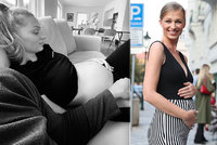 Štíhlá i v šestém měsíci?! Těhotná misska z děcáku Kašáková vyvalila bříško