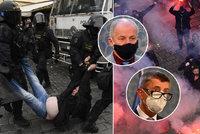 Dramatické protesty proti rouškám: Dlažební kostky? Kopance? Za vším hledejte vládní chaos