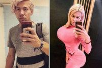 Honza (26) z Brna o své proměně: Z frajera v kožichu živou Barbie!