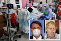 Johnson na pokraji smrti, expremiérka na JIP i Trump. Kdo z politiků se už nakazil?