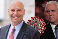 Koronavirus znovu v Bílém domě: Pozitivní je muž Trumpova viceprezidenta. A co Pence?