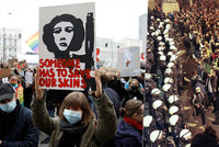 Vyvrcholení demonstrací v Polsku: Desetitisíce lidí proti zpřísnění protipotratového zákona