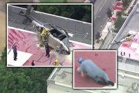 Vrtulník převážející srdce k transplantaci havaroval: Jeden ze zdravotníků pak s orgánem zakopl