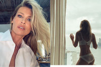 Sexy Peštová (50) dráždí v krajkovém prádle: Vyšpulený zadeček za bouře!