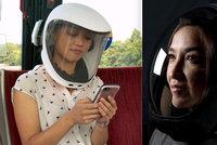 Místo roušky skafandr? Vynálezci kvůli koronaviru chystají speciální helmy