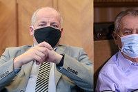 Zeman odmítl Prymulu po Vyšehradě odvolat, chtěl mu vynadat. Ministr bez roušky skončil sám
