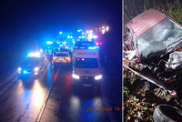 Při tragické nehodě u Strání na Zlínsku zemřely dvě ženy (†78 a †45): Zraněný řidič (78) před jízdou nepil
