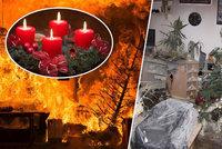 Svíčky z adventních věnců vedou v příčinách vánočních požárů! Neděláte něco špatně i vy?
