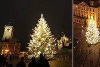 ŽIVĚ: Vánoční strom na Staroměstském náměstí se rozsvítil! Takhle vypadá v celé své kráse