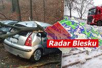 Hrozí orkán, sledujte radar Blesku. Kde je největší nebezpečí a jak to bude se sněhem?