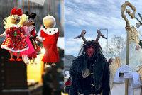 Na Vítězném náměstí začaly Vánoční trhy, chodí tam i Mikuláš s čertem. Trhy budou také na Andělu