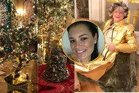 Okázalá vánoční výzdoba milionové vily bohaté tchyně Šeredové: Z toho přechází zrak!