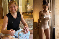Intimní dárek pro miliardáře Janečka: Jeho svlečená Lilia ukázala své poklady!