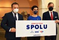 """ODS, lidovci a TOP 09 zahájili kampaň. Fiala: """"Nespojili jsme se proti někomu, ale za něco"""""""