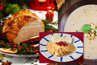 Slavnostní hostina na Boží hod: Servírujte sváteční šunku, králíka na smetaně i kaštanovou polévku!