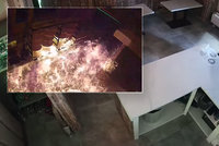 Zkáza pizzerie v Příbrami: Šokující video zachytilo řádění žháře i běsnící plameny!