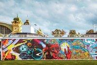 Aukce uměleckého graffiti na pražském výstavišti vynesla statisíce. Pomohou rodinám v nouzi