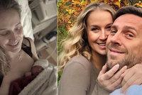 Manželka Romana Vojtka Petra podrobně o porodu: O bolesti i rozmačkávání manžela!