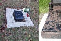 Žena zažila šok na Štědrý den: Z hrobu jejích nejbližších zmizel náhrobní kámen!