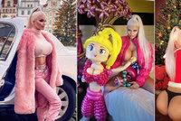 Nestydatý vánoční dáreček české Barbie Jiráčkové: Rafinovaně oblečená i odhalená!