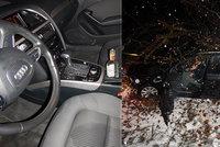Mladík (22) usedl s flaškou za volant audi a vyrazil: Po vážné nehodě mu naměřili 2,5 promile!