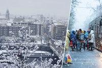 Jarní počasí si v Praze bere dovolenou! Zima se vrací, bude pršet i sněžit