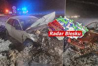 ONLINE: Na Česko se sype sníh. Hlavní tah do Polska stojí, sledujte radar Blesku