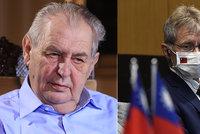 Vystrčil se Zemanovi neomluví, prezidentovi vytkl lži. Přímluva Vondráčka ke smíření nevedla