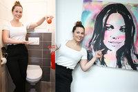 Míša Nosková ukázala bydlení: Záchod je nejzábavnější místností v celém bytě!