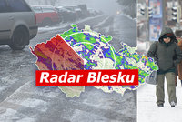Do Česka se vrátila zima, napadlo až 20 centimetrů sněhu. Teploty klesnou k -10 °C, sledujte radar Blesku